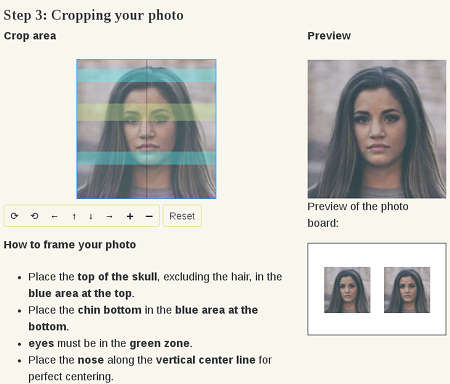 Passport photo online